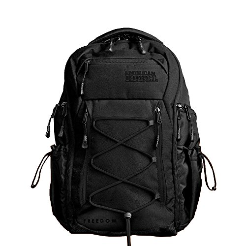 Concealed Carry Durable Laptop Backpack - Medium Black/Black Freedom Bag for Every Day Use - Unisex - American Rebel Inc