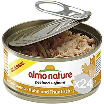 Almo nature Juego 24 Gato 5025 Lata 70 Pollo imantado y Comida para Gatos: Amazon.es: Productos para mascotas