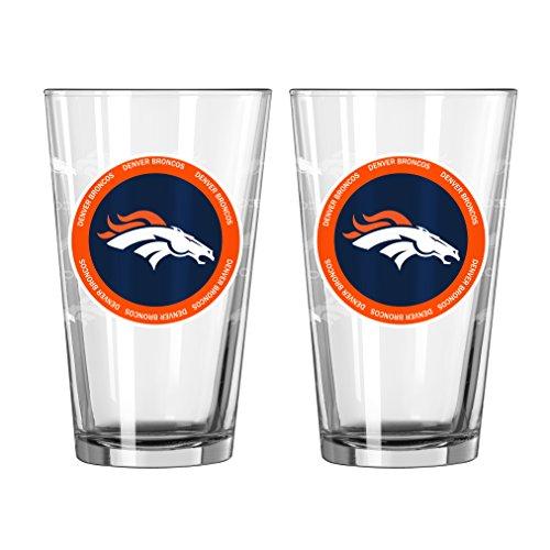 NFL Denver Broncos Ring of Honor Pint, 16-ounce, 2-Pack