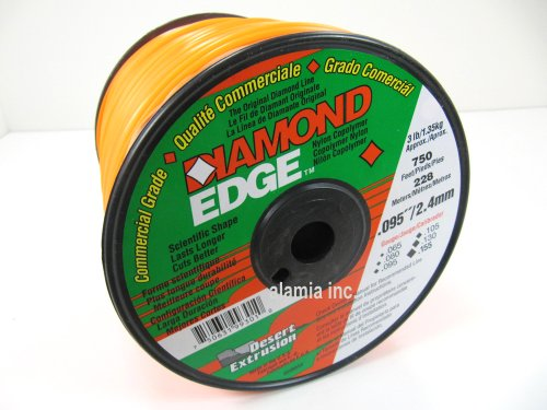 Diamond Edge Commercial Trimmer Line .095 3-Lbs. Medium Spool 750 Feet. - Edge Trimmer Line