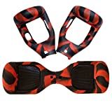 Silicone Case Cover for 6.5 Inches 2 Wheels Self Balancing Electric Scooter (Black & Red)
