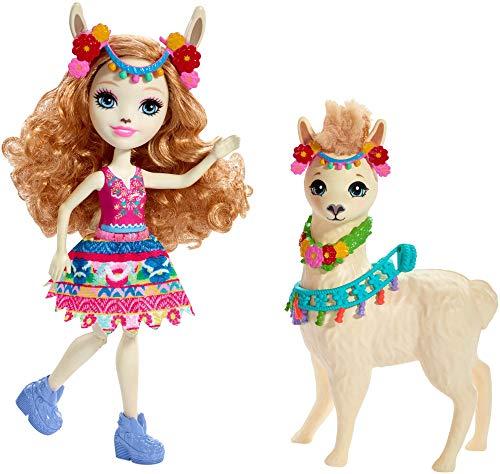 Enchantimals – Luella Llama y Fleecy, muñeca con mascota (Mattel FRH42) , color/modelo surtido