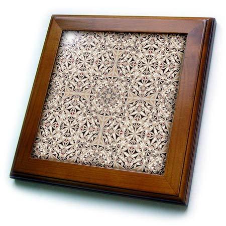 3dRose David Zydd - Kaleidoscope Designs - Cappuccino Wallpaper - abstract kaleidoscope design - 8x8 Framed Tile (ft_289066_1)