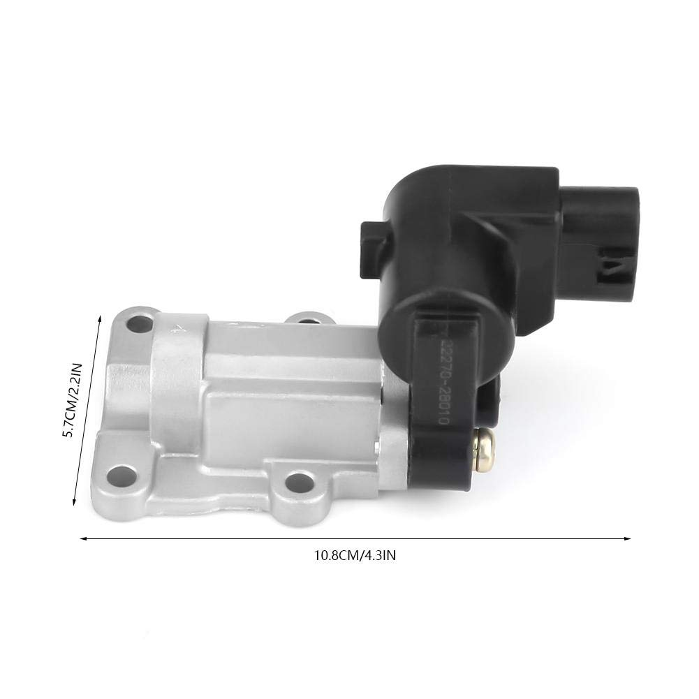 Aramox Idle Air Control Valve IAC with Gasket Easy Installation for 2.4L RAV4 2001-2004 22270-28010