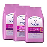 Vagisil Anti-Itch Medicated Wipes, Maximum Strength, 20 Wipes (Pack of 3) (Packaging May Vary)