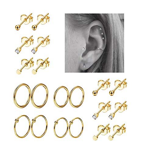 REVOLIA Stainless Cartilage Earrings Piercing product image