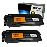 LINKYO 2 Pack Compatible Brother TN650 Toner Cartridge-Black 8000 Yield, Office Central