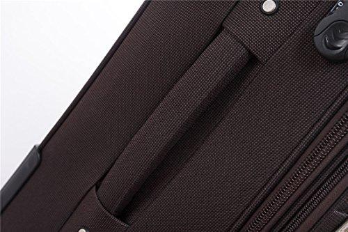 51aCKpLaEUL - 8005 3 piezas, 4 ruedas de maletas duras tela maleta conjunto de equipaje maleta de viaje en 5 coloures