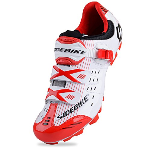 Smartodoors Women's and Men's All-Road and MTB II Cycling Shoes SD-001 (White/Red B for MTB, US7.5/EU40)