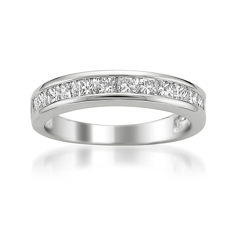 Amazon Platinum Princess cut Diamond Bridal Wedding Band Ring
