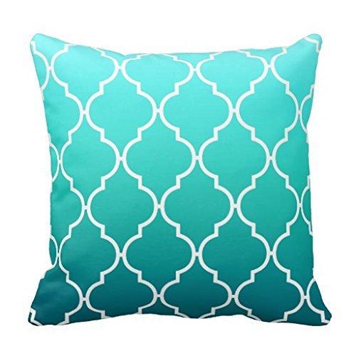 Comi Quatrefoil Ombre Geometric Aqua Pool Home Decor Pillow Case Cushion Cover 20