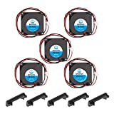 WINSINN Blower Fan 24V 40mm Turbine Turbo Fan 40x10mm 4010 DC Brushless Hydraulic Bearing Cooling with Air Guide Parts For 3D Printer Extruder Hotend - 2Pin 0.06A 1.44W 7000+-5% RPM (Pack of 5Pcs)