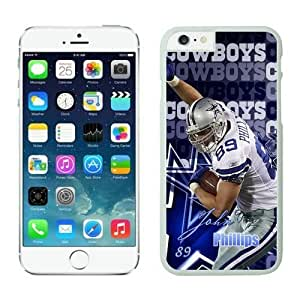 NFL iPhone 6 Plus 5.5 Inches Case Dallas Cowboys John Phillips White iPhone 6 Plus Cell Phone Case ONXTWKHB1240