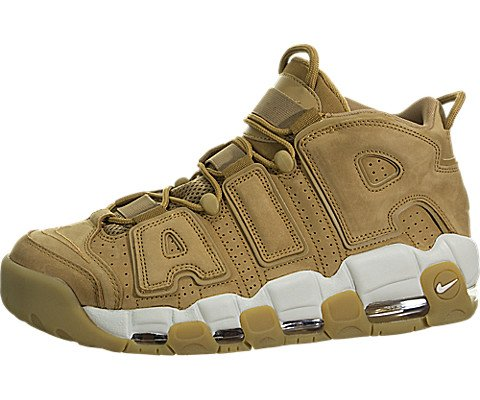 718d7ba2f6 Galleon - Nike Mens Air More Uptempo '96 Leather Fashion Sneakers Tan 11.5  Medium (D)