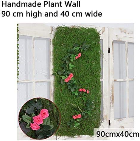 人工的な緑の塀のパネル、人工的なコケの景色の緑の植物の場面窓5部分のパネル (Color : Pink, Size : 3pack)