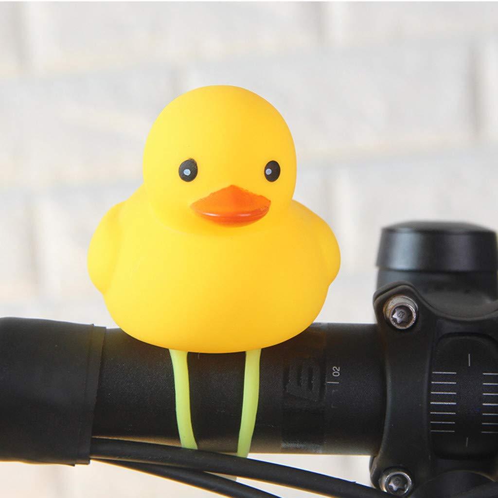 Deadpool Piccola Anatra Gialla Spie Luminose per Bambini e Ciclisti,Piccola Corno Giallo Anatra Chiaro TT-Special Corno della Bicicletta Luci della Campana Bell