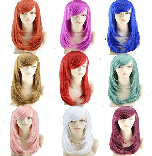 Simpleyourstyle Medium Long Pear Head 9 Colors Pop Style Wigs for Women U pick