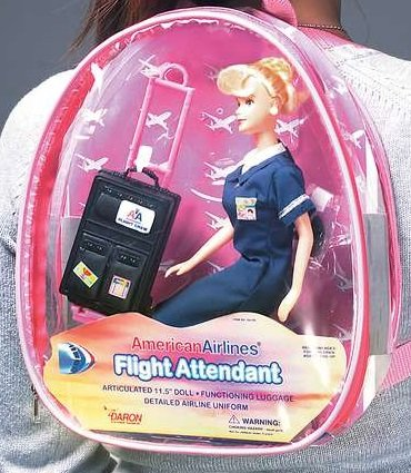 Flight Attendant Doll BLOND American Airlines 11