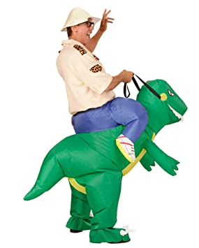 Horror-Shop Dinosaurio Carry Me inflable de vestuario ...