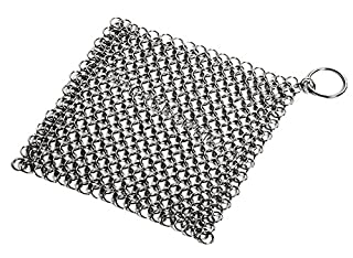 niceEshop(TM) Stainless Steel Cast Iron Chainmail Scrubber with Ring (Silver) (B00ZHS8AB6)   Amazon price tracker / tracking, Amazon price history charts, Amazon price watches, Amazon price drop alerts
