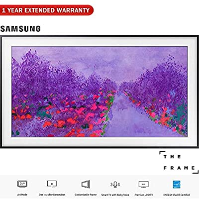 """Samsung UN55LS03N 55""""-Class The Frame Premium 4K UHD TV (2018 Model) - (Certified Refurbished) with 1 Year Extended Warranty"""