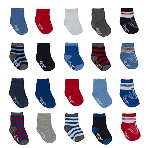 Little Me Infant Boys & Girls 20 Pack Anklet Socks Box Set, Assorted 0-12 & 12-24 Months Pack