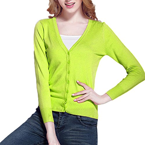 Begonia K Womens V Neck Sweater Cardigan