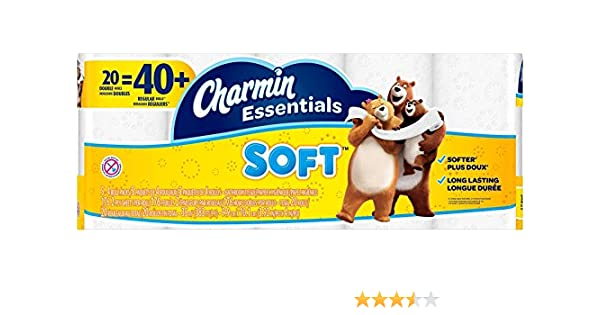 Amazon.com: Charmin Essentials Soft 20 Double Rolls: Health & Personal Care