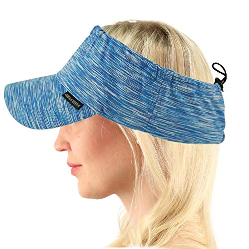 UV Sun Protection Wide Brim Beach Pool Visor Golf Sports Outdoors Cap Hat Blue ()