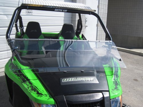 Arctic Cat Wildcat (Trail/Sport Only) 12'' Tall Half WindshieldTallest on the market (we make shorter upon request let us know at time of order). Made in America by UTV Windshields and Accessories (Image #6)