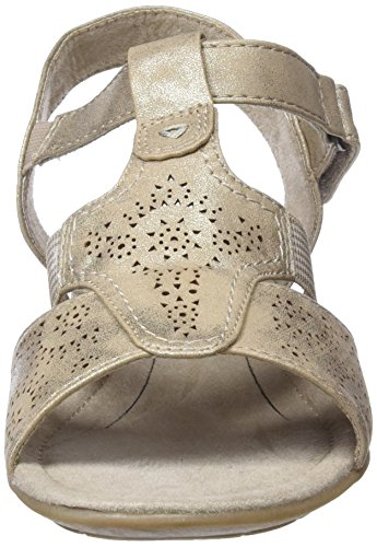 Softline Damen 28166 Slingback Sandalen gold (pepper/Lt gold)