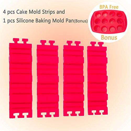 HIOFFER 4 PCS/lot Nonstick Silicone Cake Mold DIY Baking Mou
