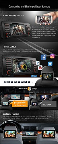 XTRONS Octa-Core 64Bit 2G RAM 32GB ROM 7 Inch Capacitive Touch Screen Car Stereo Radio DVD Player GPS CANbus Screen Mirroring Function OBD2 Tire Pressure Monitoring for BMW E53 X5 by XTRONS (Image #5)