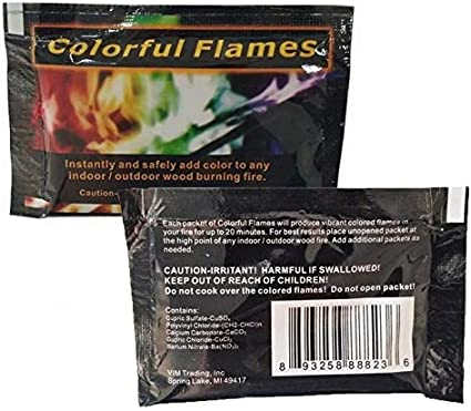 Kindes Multicolor Flame Powder Flame Dyeing Outdoor Bonfire Party Suppl Magic Kits Accessories