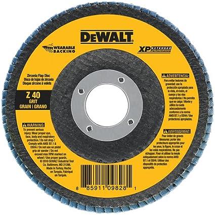 DEWALT DW8276H 6-Inch X 5//8-Inch-11 80G Xp Flap Disc