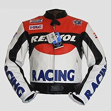 livin4limit 4LIMIT Repsol - Chaqueta de Piel para Motorista con diseño de Honda Repsol MotoGP: Amazon.es: Coche y moto