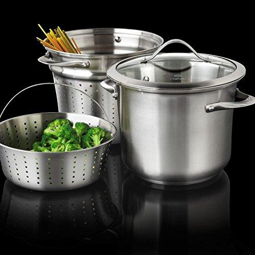 Calphalon Contemporary Stainless Cookware/Multi-Pot, 8 quart