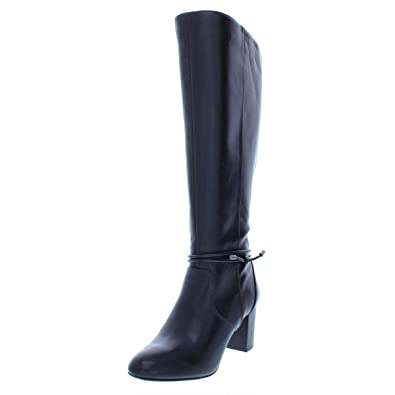f6a0e615f27 Image Unavailable. Image not available for. Color  Alfani Womens Giliann  Wide Calf Faux Leather Dress Boots ...