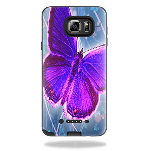 MightySkins Protective Vinyl Skin Decal for Mophie Juice Pack Samsung Galaxy Note 5 wrap Cover Sticker Skins Violet Butterfly