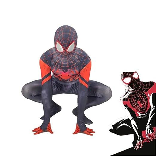 PIAOL Spiderman Adult Kids Costume Cosplay Medias con Máscara ...