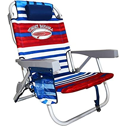 Tommy Bahama 2016 Backpack Cooler Chair with Storage Pouch and Towel Bar