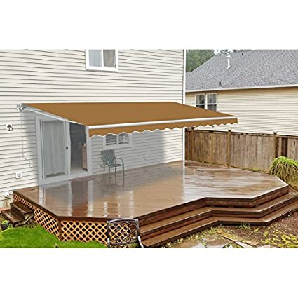 ALEKO AW13X10SAND31 Retractable Patio Awning 13 X 10 Feet Sand