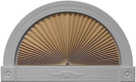 Redi Shade 3607274 Natural, 72 x 36 Original Arch Sheer View Solar Fabric Shade,