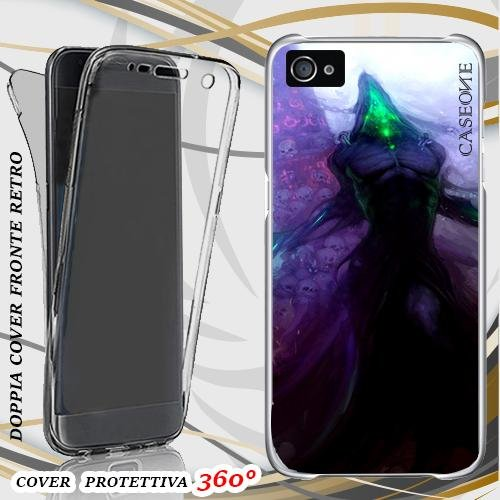 CUSTODIA COVER CASE NOCTURNE DARK PER IPHONE 4 FRONT BACK