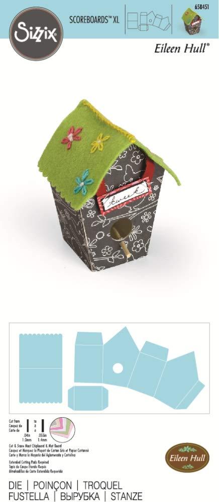 Sizzix Score planches Extar-large Die 3-D birdhouse par Eileen Hull Multicolore