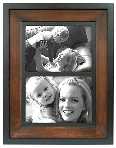 MCS Two-Tone 9.8x12.8 Inch Wood Wall Frame with Two 5x7 Inch