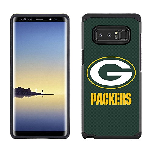 Green Bay Packers Note - Prime Brands Group Cell Phone Case for Samsung Galaxy Note 8 - NFL Licensed Green Bay Packers Textured Solid Color