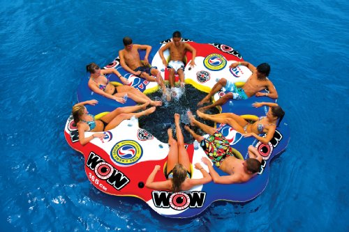 WOW World of Watersports, 13-2060 Tube A Rama, 10 Person Inflatable Floating Island, 12 Foot Diameter by WOW Sports (Image #5)