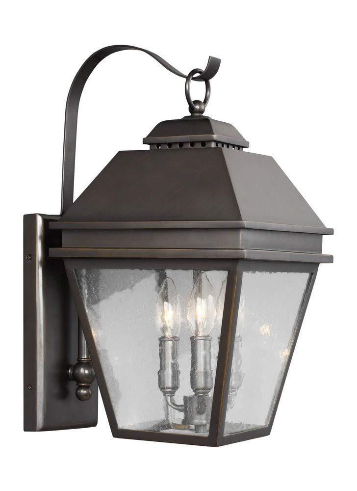 Feiss OL13501ANBZ Three Light Outdoor Wall Lantern, Antique Bronze