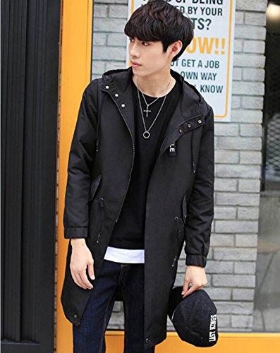 LQABW Section Male Autumn Long Cardigan Fashion Coat Thin Windbreaker Leisure Jacket Jacket qRWHTq